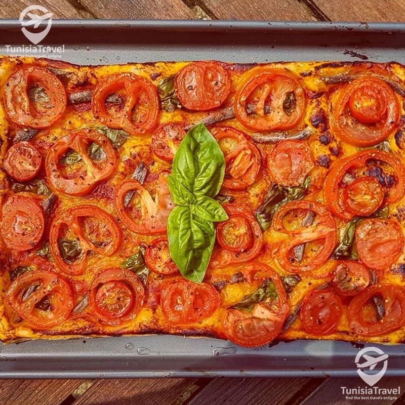 Cuisine Tarte à la tomate aux anchois
