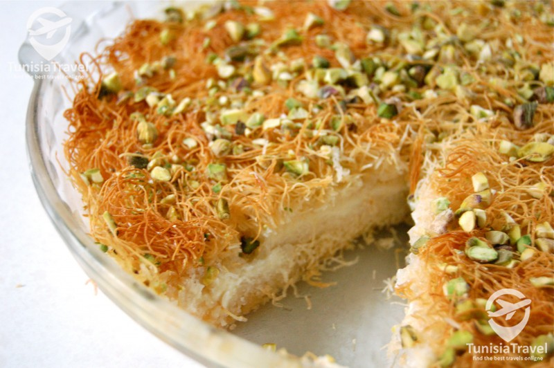 Cuisine Konafa bel ichta (Kunafa à la crème)